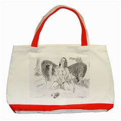 Bleeding Angel 1  Classic Tote Bag (Red)