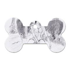 Bleeding Angel 1  Dog Tag Bone (two Sided)