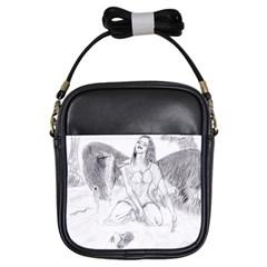 Bleeding Angel 1  Girl s Sling Bag