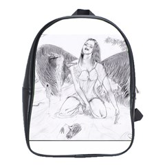 Bleeding Angel 1  School Bag (XL)