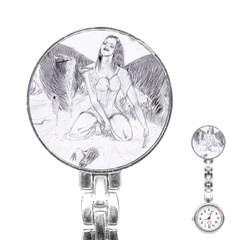 Bleeding Angel 1  Stainless Steel Nurses Watch