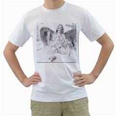 Bleeding Angel 1  Men s T-Shirt (White)