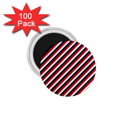 Diagonal Patriot Stripes 1.75  Button Magnet (100 pack)
