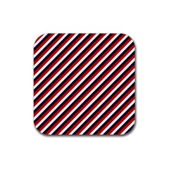 Diagonal Patriot Stripes Drink Coasters 4 Pack (square)