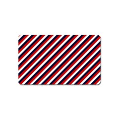 Diagonal Patriot Stripes Magnet (Name Card)