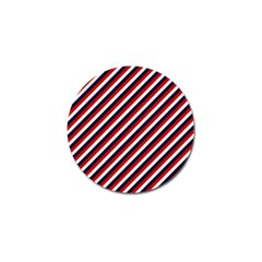 Diagonal Patriot Stripes Golf Ball Marker 10 Pack