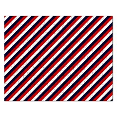 Diagonal Patriot Stripes Jigsaw Puzzle (Rectangle)