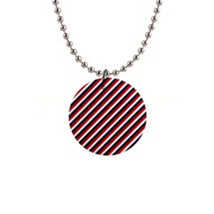 Diagonal Patriot Stripes Button Necklace