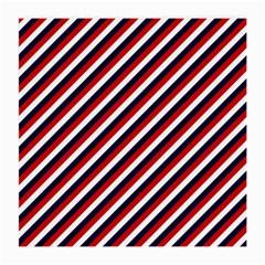 Diagonal Patriot Stripes Glasses Cloth (Medium, Two Sided)