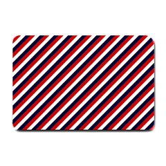 Diagonal Patriot Stripes Small Door Mat