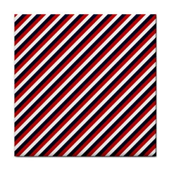 Diagonal Patriot Stripes Face Towel
