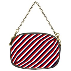 Diagonal Patriot Stripes Chain Purse (one Side)