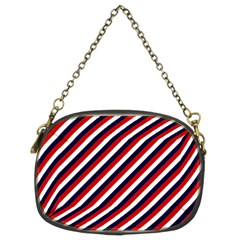 Diagonal Patriot Stripes Chain Purse (two Sided)