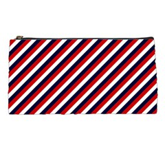 Diagonal Patriot Stripes Pencil Case