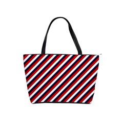 Diagonal Patriot Stripes Large Shoulder Bag