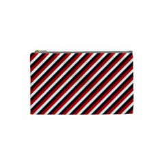 Diagonal Patriot Stripes Cosmetic Bag (small)
