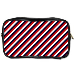Diagonal Patriot Stripes Travel Toiletry Bag (one Side)