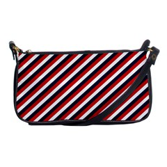 Diagonal Patriot Stripes Evening Bag
