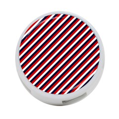 Diagonal Patriot Stripes 4-Port USB Hub (One Side)