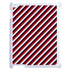 Diagonal Patriot Stripes Apple iPad 2 Case (White)