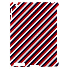 Diagonal Patriot Stripes Apple iPad 2 Hardshell Case (Compatible with Smart Cover)