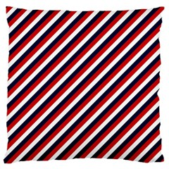 Diagonal Patriot Stripes Large Cushion Case (Two Sided)