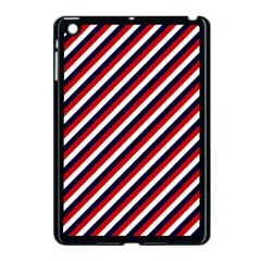 Diagonal Patriot Stripes Apple iPad Mini Case (Black)