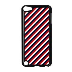 Diagonal Patriot Stripes Apple iPod Touch 5 Case (Black)