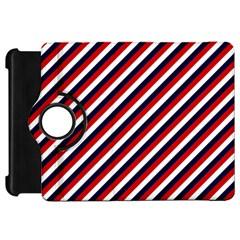 Diagonal Patriot Stripes Kindle Fire HD 7  (1st Gen) Flip 360 Case