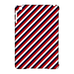 Diagonal Patriot Stripes Apple iPad Mini Hardshell Case (Compatible with Smart Cover)