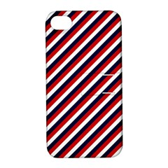 Diagonal Patriot Stripes Apple Iphone 4/4s Hardshell Case With Stand