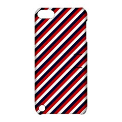 Diagonal Patriot Stripes Apple Ipod Touch 5 Hardshell Case With Stand