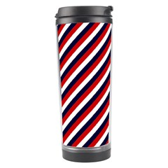 Diagonal Patriot Stripes Travel Tumbler