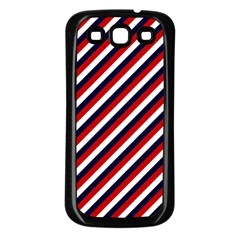 Diagonal Patriot Stripes Samsung Galaxy S3 Back Case (Black)