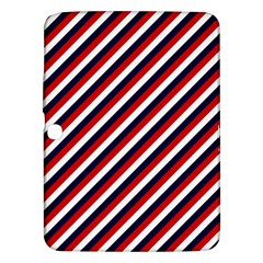 Diagonal Patriot Stripes Samsung Galaxy Tab 3 (10 1 ) P5200 Hardshell Case