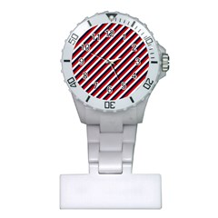 Diagonal Patriot Stripes Nurses Watch
