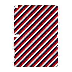 Diagonal Patriot Stripes Samsung Galaxy Note 10.1 (P600) Hardshell Case