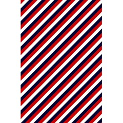 Diagonal Patriot Stripes Notebook