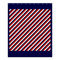 Diagonal Patriot Stripes Shower Curtain 60  X 72  (medium)