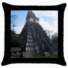 Tikal Black Throw Pillow Case