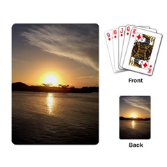 sunset beach Playing Cards Single Design