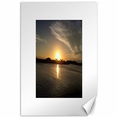 sunset beach Canvas 24  x 36  (Unframed)