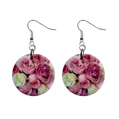 Tapestry Wedding Bouquet 1  Button Earrings