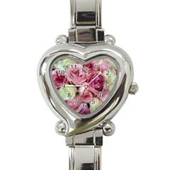 Tapestry Wedding Bouquet Heart Italian Charm Watch