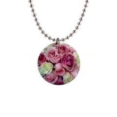 Tapestry Wedding Bouquet 1  Button Necklace