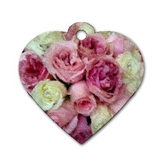 Tapestry Wedding Bouquet Dog Tag Heart (One Side)