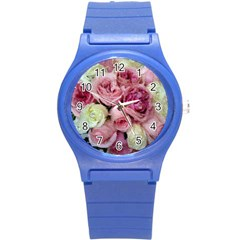Tapestry Wedding Bouquet Round Plastic Sport Watch Small