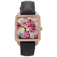 Tapestry Wedding Bouquet Rose Gold Leather Watch