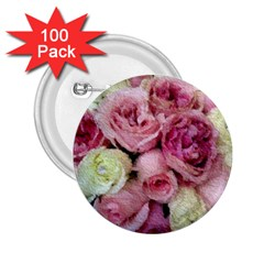 Tapestry Wedding Bouquet 2.25  Button (100 pack)