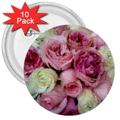 Tapestry Wedding Bouquet 3  Button (10 Pack)
